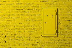 Yellow wall (Jan van der Wolf) Tags: door monochrome yellow wall composition closet cabinet bricks minimal minimalism geel minimalistic deur kast muur kastje monochroom minimalisme compositie bakstenen minimlistic map15148v