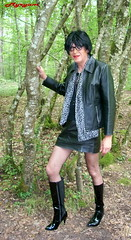 DSCN0502 Promenade dans les bois. Walk in the woods. (myryamdefrance) Tags: hot sexy leather tv legs boots outdoor cd tgirl transgender tranny transvestite jupe trans bas miniskirt crossdresser tg bottes pute leatherskirt shemale talons cuir travesti rsille transgenre sexyoutfit minijupe myryam sexycrossdresser sexytgirl hotcrossdresser sexytranny hottgirl hottranny jupemini slutcrossdresser tgirlsmile sexycrossdresserhot