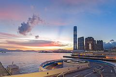 Sunset Afterglow at Ocean Terminal, Hong Kong (johnlsl) Tags: sunset hongkong afterglow oceanterminal