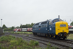 Alycidon (DM47744) Tags: york railroad travel blue heritage museum train nikon track br diesel transport traction rail railway trains class virgin national rails british locomotive preserved 55 society railways 91 nrm preservation 225 dps deltic ecml d9009 55009 d3100