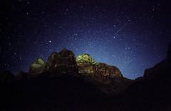 Zion National Park (somer_) Tags: zionnationalpark nationalpark outdoors adventure utah film 35mm kodak southwest zion astrophotography stars nightsky kodakportra400