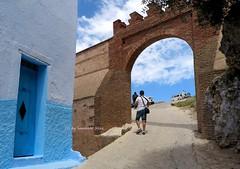 Una de las puertas de la Medina en la fachada norte(siglo XVI)Chefchaouen-Marruecos. (lameato feliz) Tags: puerta chefchaouen marruecos muralla