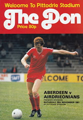 Aberdeen vs Airdrieonians - 1981 - Cover Page (The Sky Strikers) Tags: official stadium scottish aberdeen division done premier programme 30p airdrie the pittodrie airdrieonians