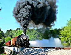 Texas State Railroad (The Old Texan) Tags: bridge history train nikon texas palestine smoke steam texasstaterailroad d7100 tamron18270mm