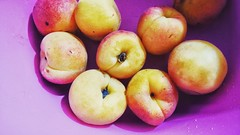 (Yasmine BS) Tags: summer cold fruits background peach violet fresh sharp delicious peachy