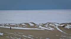 (Stereovisionblog) Tags: white snow cold ice sand alone dune lithuania