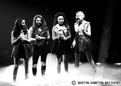 Little Mix (Adam Hampton-Matthews) Tags: show girls shadow blackandwhite bw music newcastle lights concert colours bright stage smoke gig livemusic performance young band pop singer british toon performer girlgroup 2012 liveconcert xfactor girlband metroradioarena livemusicphotography popconcerts teenagerphotographers xfactorlive littlemix xfactorlivetour2012