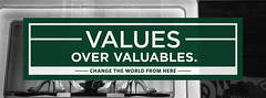 VALUES OVER VALUABLES.