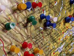 Pinned (Mamluke) Tags: sweden map pins swedish thumbtacks tacks carte pinned örebro tacked mamluke dalarnaslan