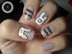 Nail Art - Toelho da Pscoa + Tutorial (DboraWernke) Tags: cute rabbi