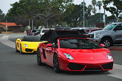 Lamborghini With the Top Down. (AESDUB) Tags: santa red macro cars yellow electric sedan lens spider san soft martin top awesome diego down andrew ferrari spyder exotic giallo rolls wright fe sick lamborghini coupe murdered royce aston rancho tesla ferarri sante lamborgini idk legit gallrado d5100 aesdub