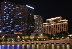 Cosmopolitan (f l a m i n g o) Tags: las vegas reflection water night lights hotel cosmopolitan lasvegas nevada nv