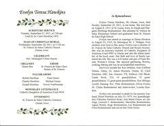 Evelyn Hawkins Funeral Program 02