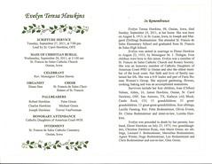 Evelyn Hawkins Funeral Program 02