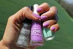 Pois (SackGirl IT) Tags: green glitter purple nailpolish cliche risque sephora nailart esmalte konad imageplate
