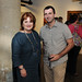 Veletta Lill, executive director of Dallas Arts District, and Peter Simek, arts editor for D Magazine - Jordan Winery's 4 on 4 Dallas Art Competition Hosted by D Magazine at Rising Gallery
