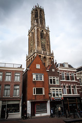 Domtoren Utrecht (Harml) Tags: city house holland tower church netherlands clouds canal utrecht toren dom oudegracht