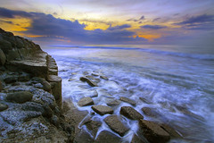 High tide at Manyar (Pandu Adnyana (thanks for 100K views)) Tags: bali motion beach rock sunrise indonesia long exposure wave flickraward manyar flickraward5