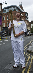 Sally Preston, Olympic Torch Relay, Leicester City Ladies Squad Member (Photo Richard 2) Tags: street uk england leicestershire britain leicester flame torch richard rutland olympic relay 2012 hilsden richardghilsden
