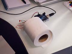 PIR in a tube (DBP Harrison) Tags: project infrared interactive interactiondesign msc sensor hci pir arduino uclic footfall 72v peoplecounting peopleclounter