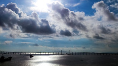 Morning, Ponte de Sai Van in Macau (a.lu.) Tags: bridge blue sea sky cloud sun white scenery ponte macau oversea