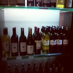 Sign of globalization : wine shelf in Bangalore