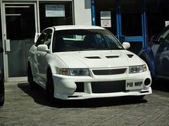 Mitsubishi Evo VI Lancer Gsr (kenjonbro) Tags: uk england white 1999 lancer mitsubishi vi evo gsr 2000cc worldcars falconwood kenjonbro fujihs10 p18mrp