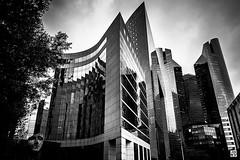 La Dfense - Paris (Chez Joe) Tags: blackandwhite bw paris architecture blackwhite xpro fuji noiretblanc pluie nb reflet fujifilm fujinon ladfense chezjoe xpro1 jokv