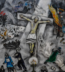 Marc Chagall - White Crucifixion, 1938 at the Art Institute of Chicago IL (mbell1975) Tags: white chicago art museum modern painting illinois gallery museu unitedstates expression 1938 fine arts musée musee m il institute marc expressionism expressionist chagall museo artic crucifixion muzeum aic beaux beauxarts müze museumuseum