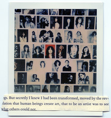 (theonlymagicleftisart) Tags: polaroid punk artist pattismith robertmapplethorpe justkids colorshade px70 impossibleproject