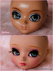 Before & After - Pullip Nahh-ato (-Poison Girl-) Tags: pink cute girl yellow hair doll dolls eyelashes sweet handmade tan makeup paige before wig bow groove after pullip poison custom pullips poisongirl ato tanned customs faceup nahh eyechips junplanning nahhato rewigged pullipnahhato pullipcustom nahhatocustom