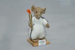 Miniature Knitting (DJLDorset (Takin' a break for a while)) Tags: wool mouse handmade crafts sony hobby flame handknitted handknitting woolen olympictorchrelay torchbearer 2012olympics miniatureknitting alphaa700 miniaturecharacters davidlongshaw