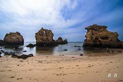 The 4 (RBXposure) Tags: sea beach sand rocks wideangle tokina algarve albufeira 1116mm praiadosarrifes
