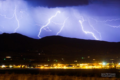 Lightning Striking Over IBM Boulder CO 3
