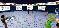 Bay City RFL Art Show 1 (Holocluck Henly) Tags: world life cartoon second rfl relayforlife holodoc holocluck sl9b