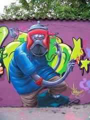 aerosol head (Pixeljuice23) Tags: streetart graffiti friendlyfire pixeljuice