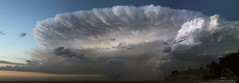 McConaughy storm pano--this is during the most intense part of the wind for us. (Loren Rye Photo) Tags: blue sky cloud lake storm beach mushroom water evening intense rocks purple tent lakeside edge thunderstorm powerful active anvil thunderhead mammatus storming mushrooming supercell lakemcconaughy specacular ogallalanebraska nebraskathunderstorms therebeastormabrewin 14onexplore mushroomey
