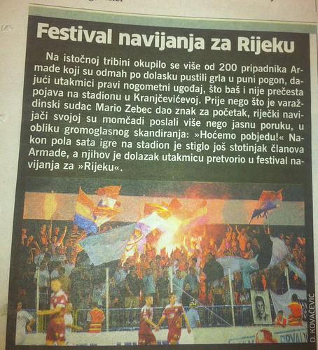 Festival navijanja za Rijeku (Novi List, 04.08.2012)