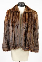 3019. Medium Brown Mink Suit Coat