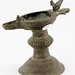 149. Antique style Oil Lamp with Bird