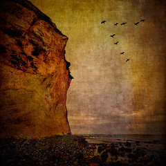 Rgen Coast #3 (Peter Femto) Tags: sea sky texture beach nature water birds strand germany square landscape see rocks meer stones natur himmel balticsea cliffs steine ie vgel landschaft ostsee felsen kreidefelsen kaparkona chalkcliffs magicunicornverybest flypapertextures