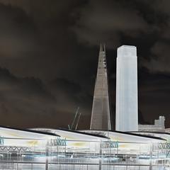 Tate modern & The Shard (Aristarcoscannabue) Tags: london skyscraper landscape cloudy tatemodern squared theshard