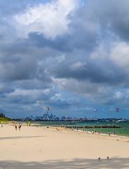 Botany Bay (Hongfei.com) Tags: city travel sea kite beach water landscape bay nikon flickr view sydney scenic australia surfing kitesurfing explore shore botany flickrexplore viewbug brightonlesand