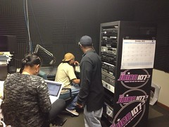 Tisha Lee, Kaj Boogie, & J-Roc hard at work!