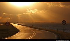 oostvaardersdijk_1 (raymondklaassen) Tags: sunset zonsondergang flevoland markermeer oostvaardersdijk