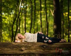 C.L. 2013 (David Pinkerton) Tags: trees portrait female log plm seniorportrait strobist singhrayvarind einstein640 nikkor85mmf14g vagabondmini