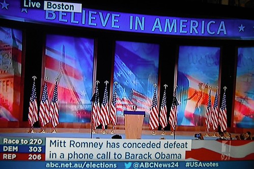 MITT ROMNEY HAS CONCEDED DEFEAT IN A PHONE CALL TO BARACK OBAMA