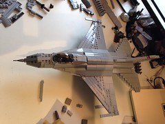 Final stretch... (Retroshark) Tags: plane fighter lego aircraft military jet f16 falcon custom moc uploaded:by=flickrmobile flickriosapp:filter=nofilter