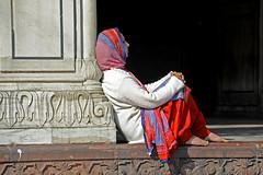 Seated Woman (BrianRope) Tags: india delhi