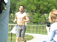 IMG_0096 (FOTOSinDC) Tags: shirtless man hot men muscle candid handsome sweaty sweat runners shorts runner joggers jogger